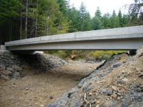 New bridge, looking upstream